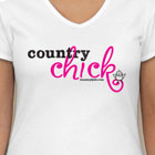 Country Chick Ladies V-Neck