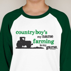 Country Boy's My Name... Baseball Shirt